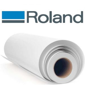 """Roland Solvent Glossy Paper with Adhesive, 30"""" x 100'"""
